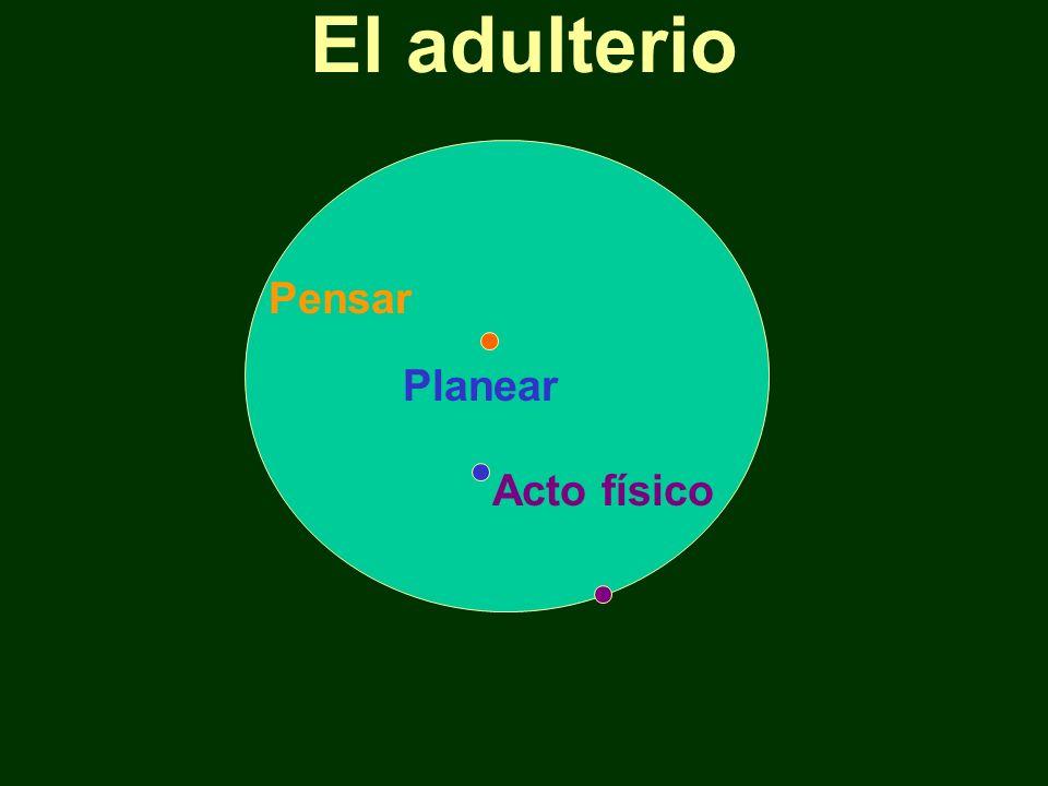 El adulterio Planear Acto físico Pensar