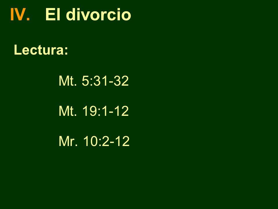 Puntos adicionales Jesús dice que la infidelidad sexual puede ser motivo de divorcio; no que tiene que serlo, sino que puede serlo.