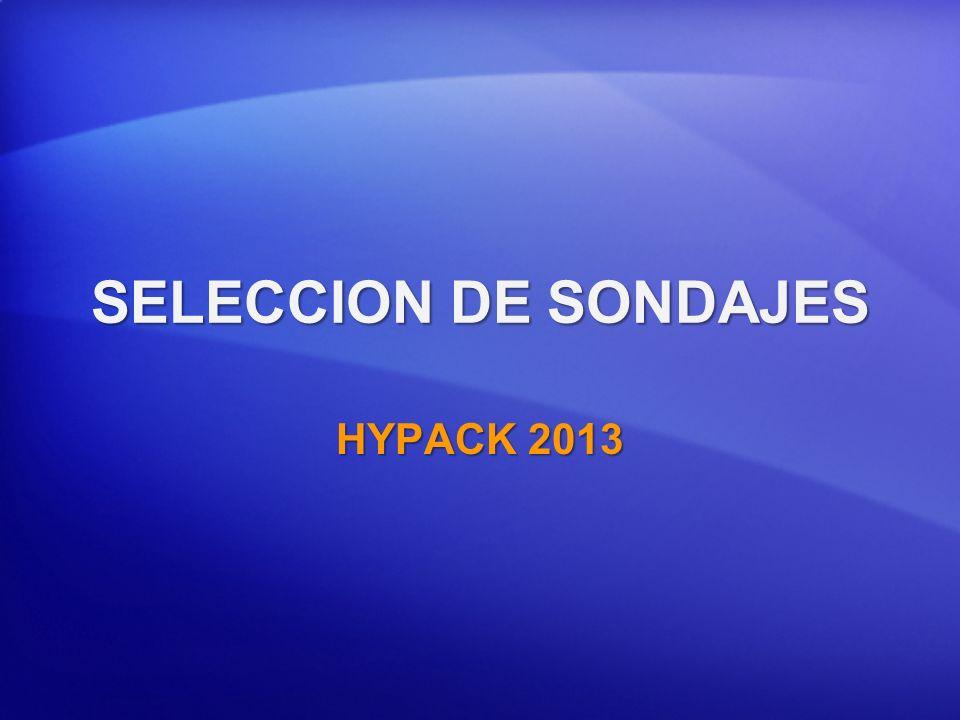 SELECCION DE SONDAJES HYPACK 2013