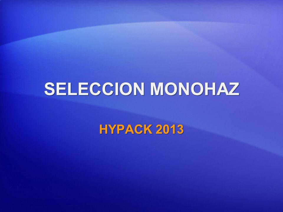 SELECCION MONOHAZ HYPACK 2013