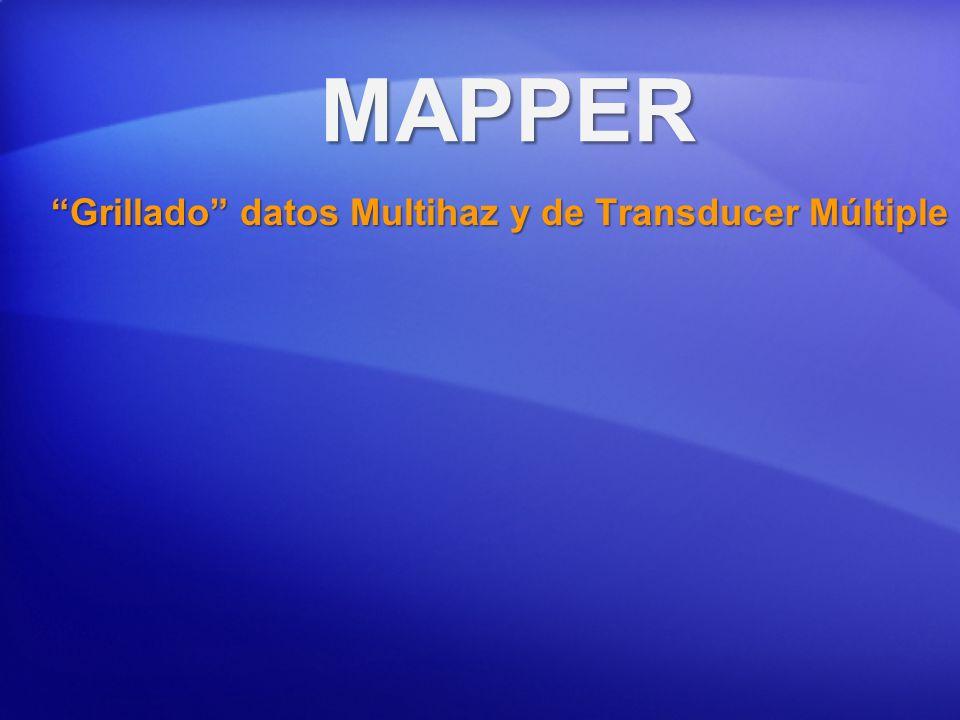 MAPPER Grillado datos Multihaz y de Transducer Múltiple