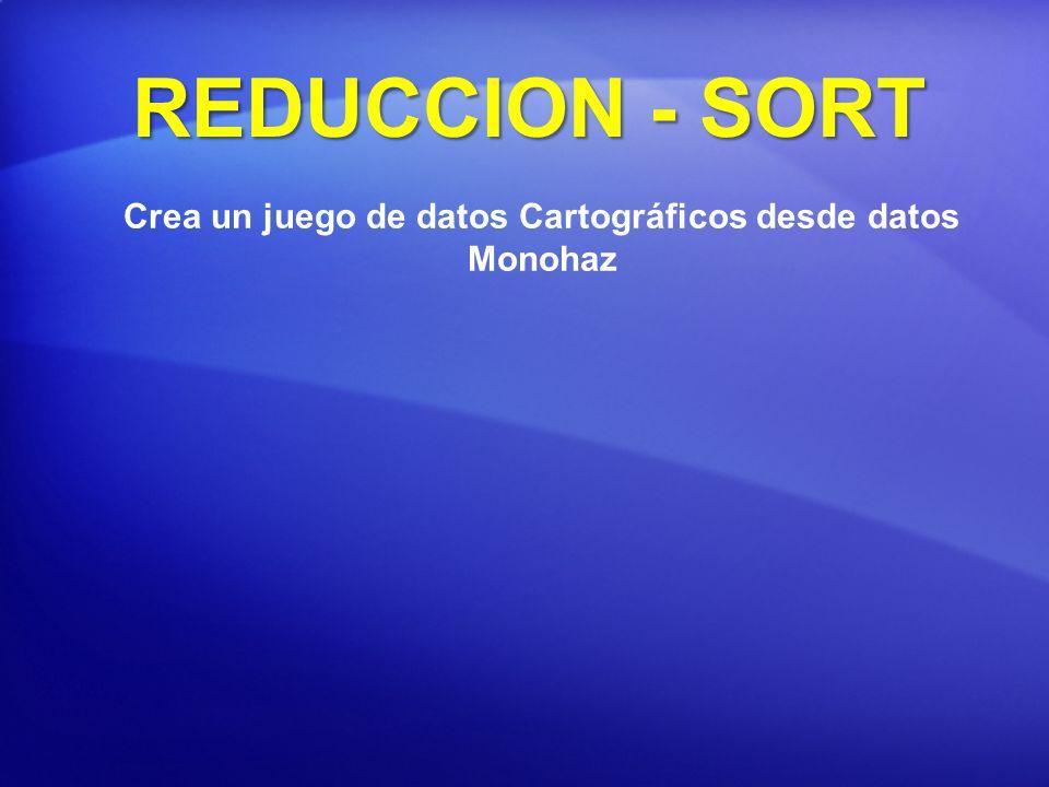 Crea un juego de datos Cartográficos desde datos Monohaz REDUCCION - SORT