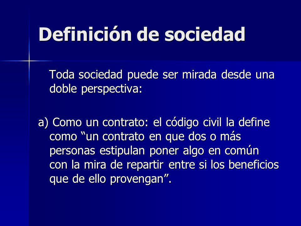 Toda sociedad puede ser mirada desde una doble perspectiva: Toda sociedad puede ser mirada desde una doble perspectiva: a) Como un contrato: el código