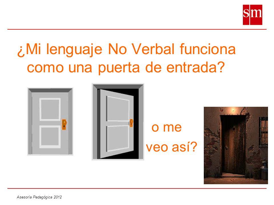 ¿Mi lenguaje No Verbal funciona como una puerta de entrada? o me veo así?