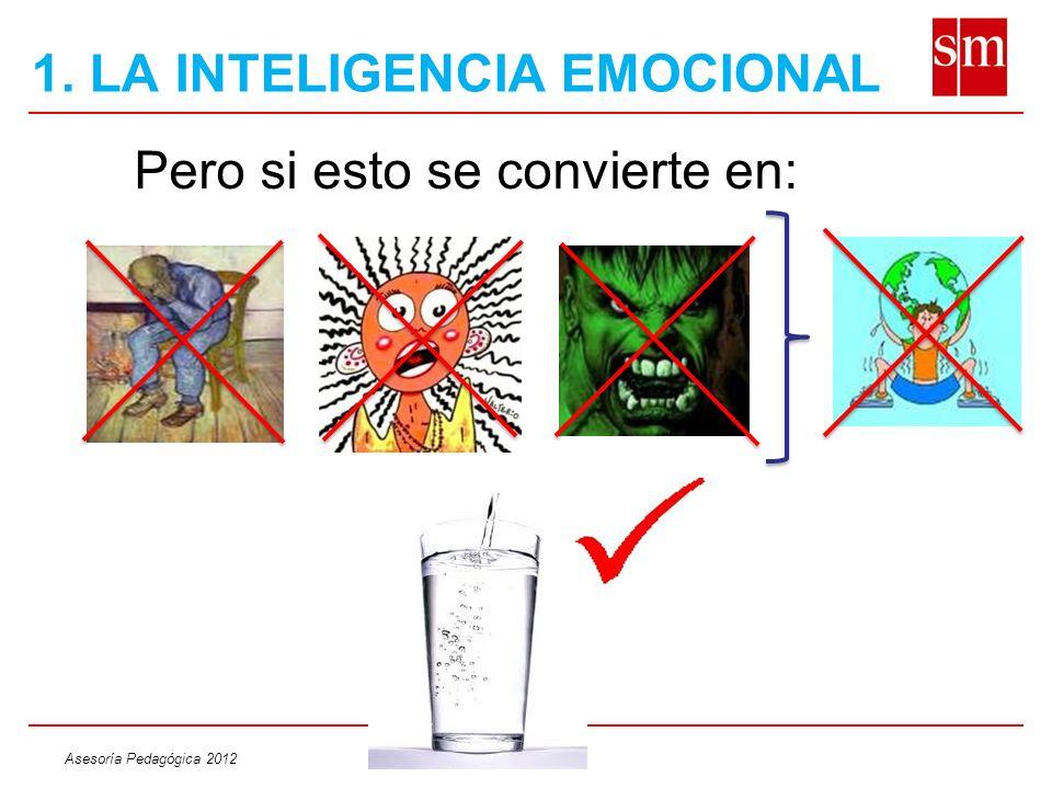 Asesoría Pedagógica 2012 Pero si esto se convierte en: 1. LA INTELIGENCIA EMOCIONAL