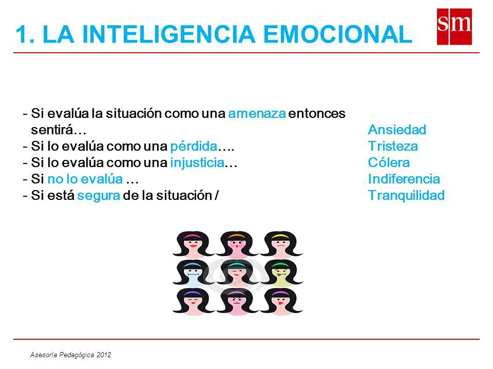 Asesoría Pedagógica 2012 Pongámonos a prueba!!.