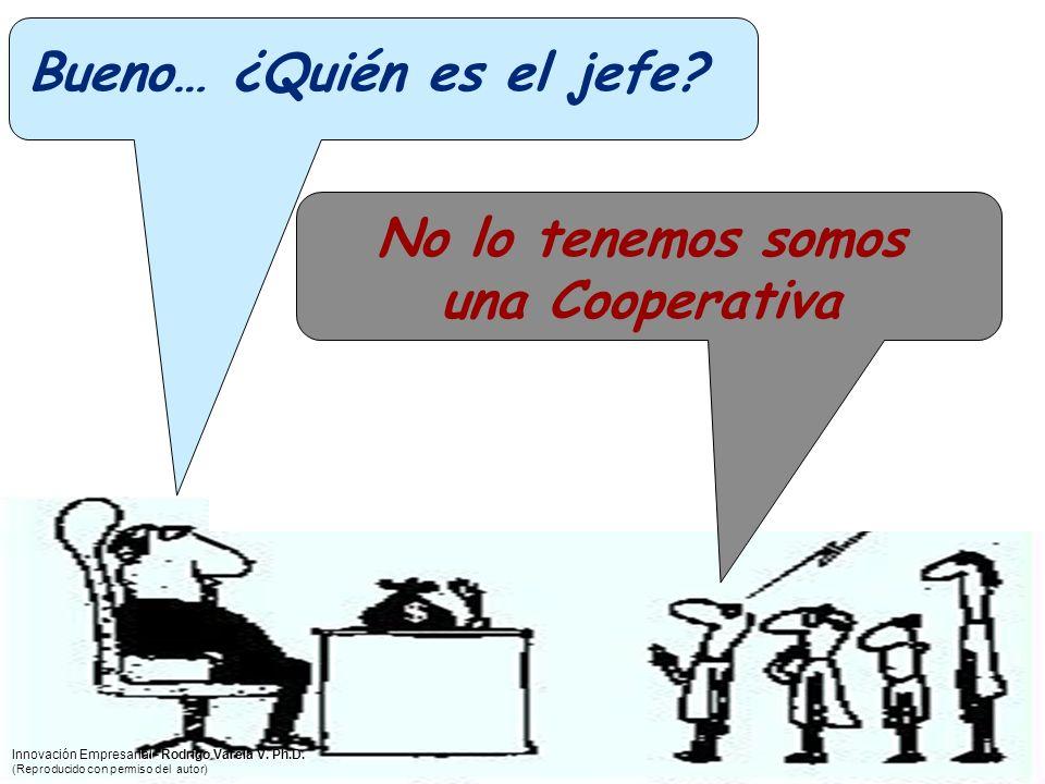 Bueno… ¿Quién es el jefe? No lo tenemos somos una Cooperativa Innovación Empresarial - Rodrigo Varela V. Ph.D. (Reproducido con permiso del autor)