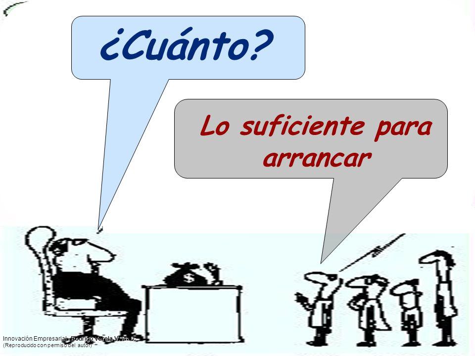 ¿Cuánto? Lo suficiente para arrancar Innovación Empresarial - Rodrigo Varela V. Ph.D. (Reproducido con permiso del autor)