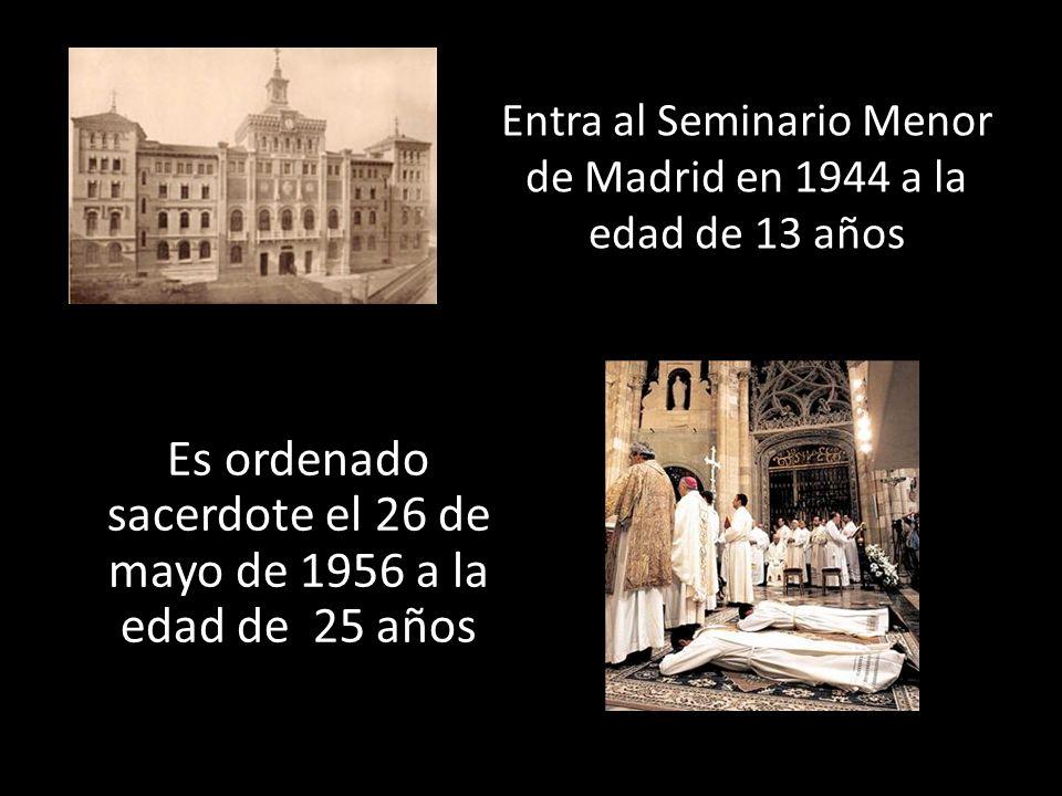 Sirve como párroco en VillamantaCristo del Amor (Aluche) Santiago y San Juan de Madrid
