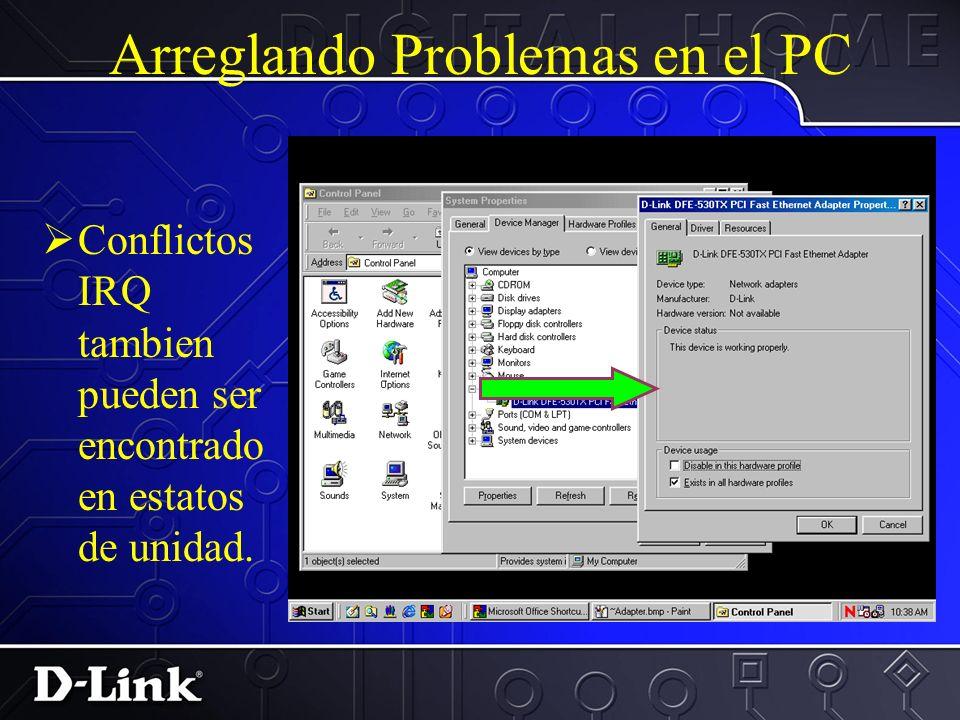 Arreglando Problemas en el PC Precione en el boton Input/output (I/O) :