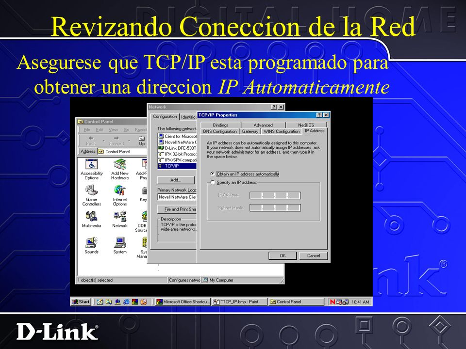 Revizando Coneccion de la Red Precione dos veces en TCP/IP
