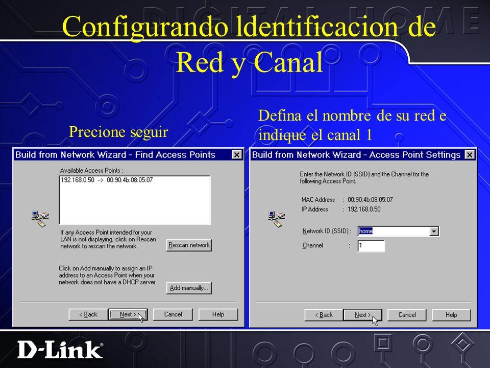 Configurando la direccion IP Escriba la direccion del MAC del DWL-1000AP access point en el espacio indicado.