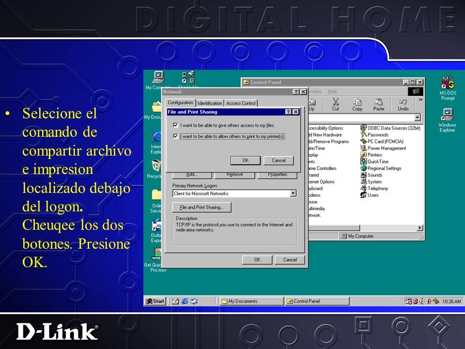 1.Selecione la opcion de elegir una direccion IP automaticamente. 2.Presione OK.