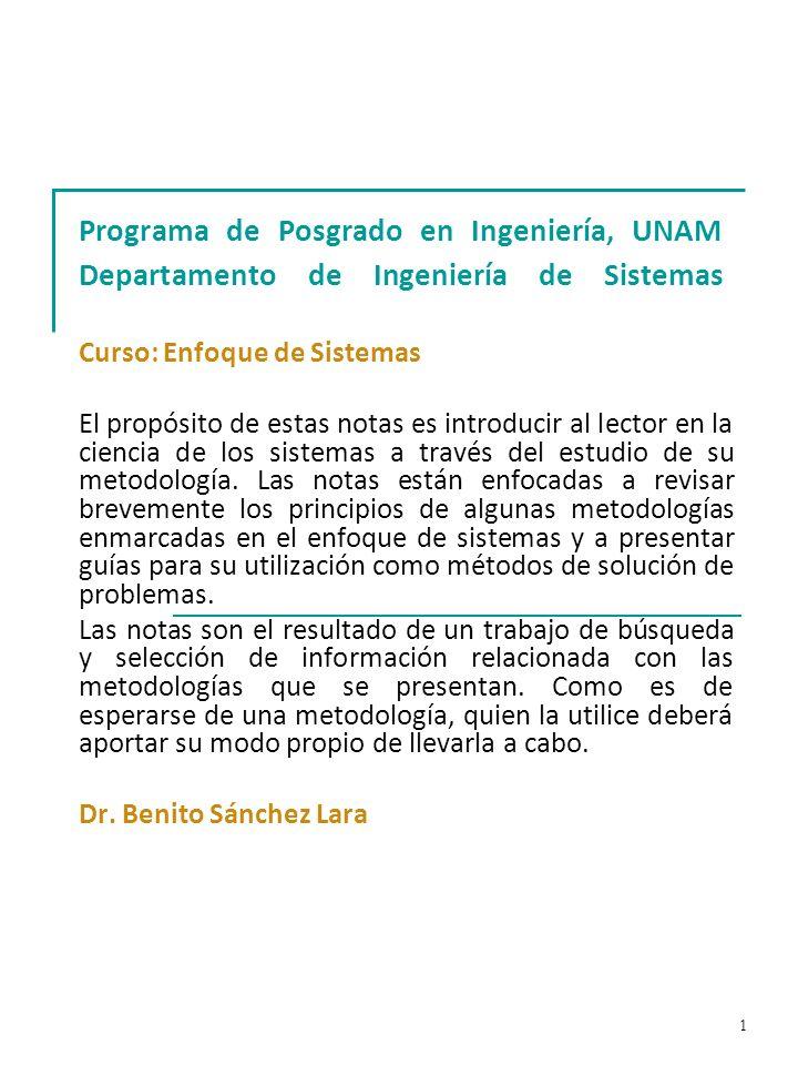 102 Metodología VSM Primera etapa: Diagnóstico preliminar; identificación de los cinco sistemas.