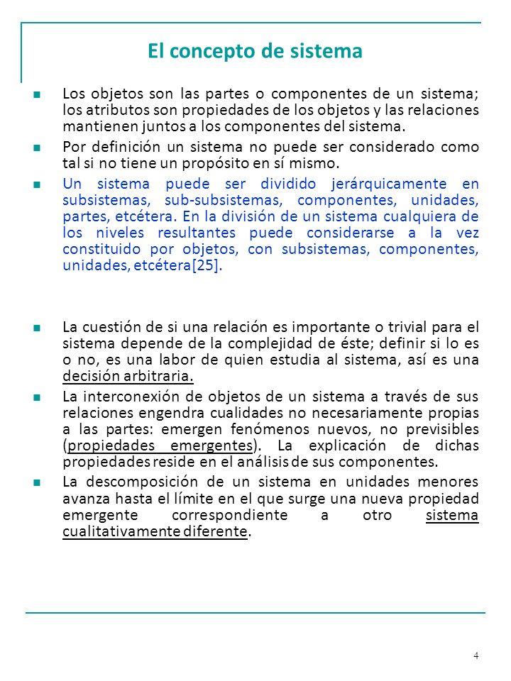 25 El enfoque de sistemas: ejemplo Enfoque Holista.