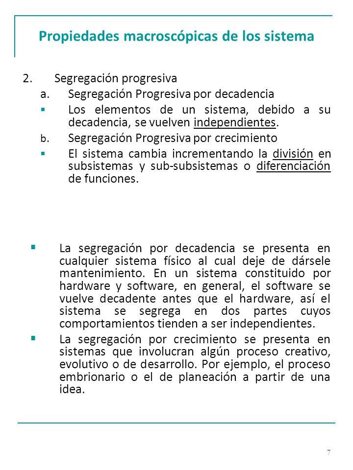 18 Características de los sistemas abiertos h.Diferenciación.