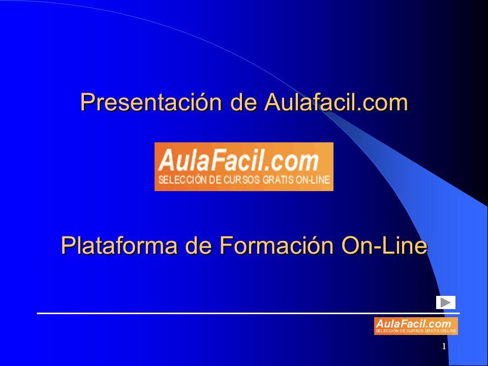 1 Presentación de Aulafacil.com Plataforma de Formación On-Line