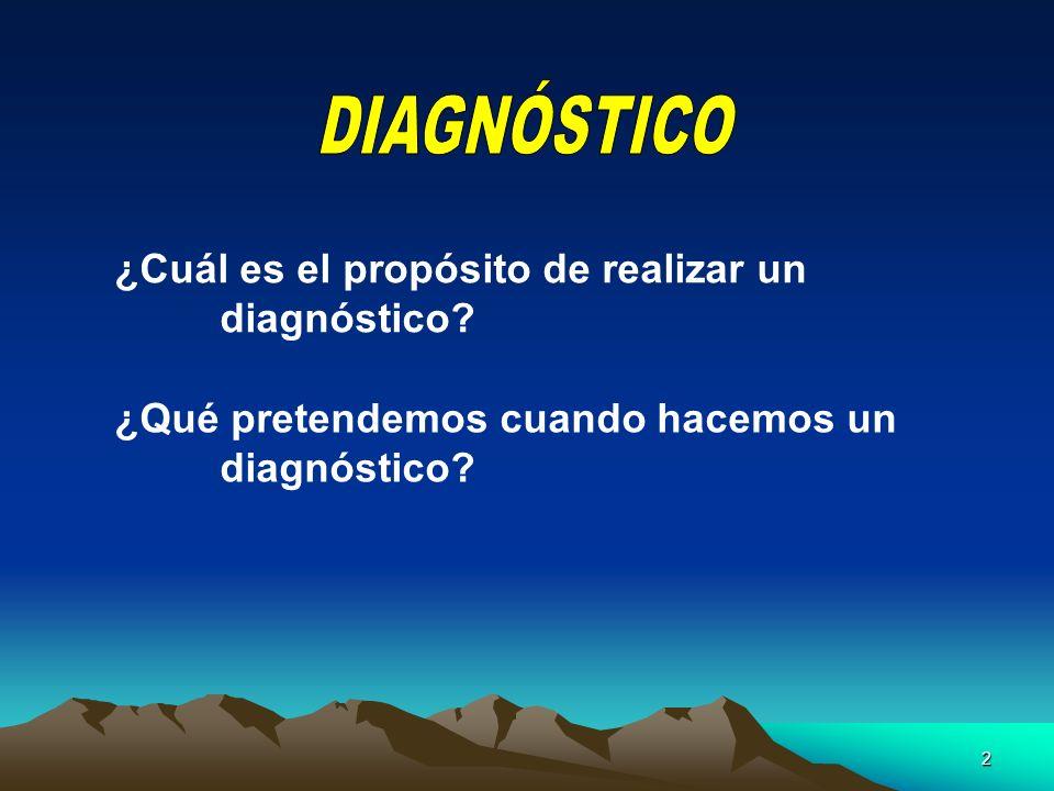 2 ¿Cuál es el propósito de realizar un diagnóstico? ¿Qué pretendemos cuando hacemos un diagnóstico?