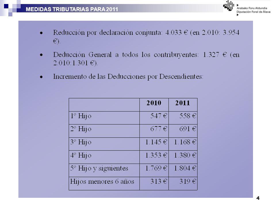 MEDIDAS TRIBUTARIAS PARA 2011 4