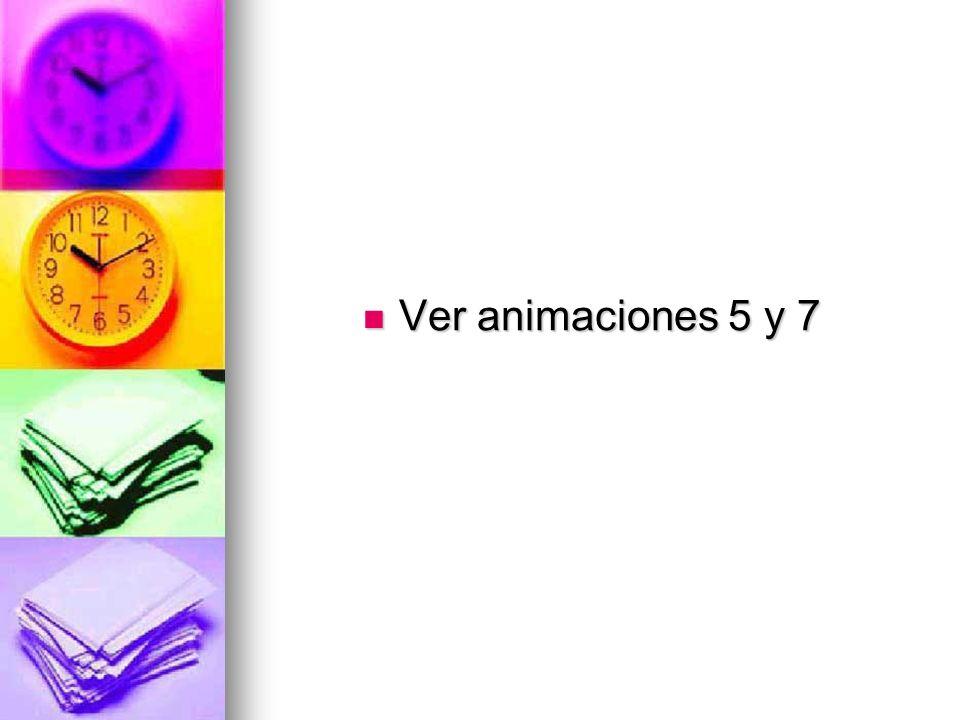 Ver animaciones 5 y 7 Ver animaciones 5 y 7