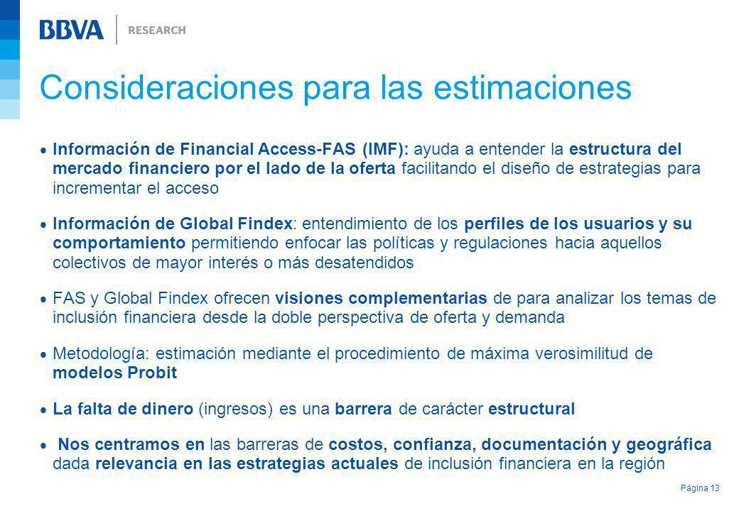 Información de Financial Access-FAS (IMF): ayuda a entender la estructura del mercado financiero por el lado de la oferta facilitando el diseño de est