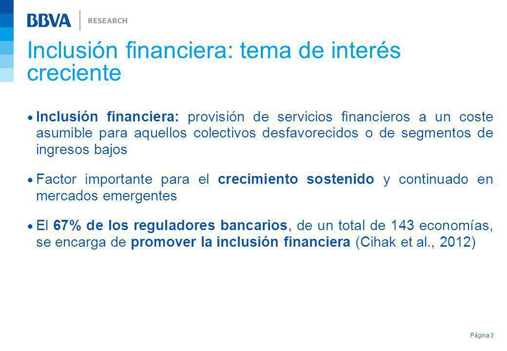 Inclusión financiera: provisión de servicios financieros a un coste asumible para aquellos colectivos desfavorecidos o de segmentos de ingresos bajos