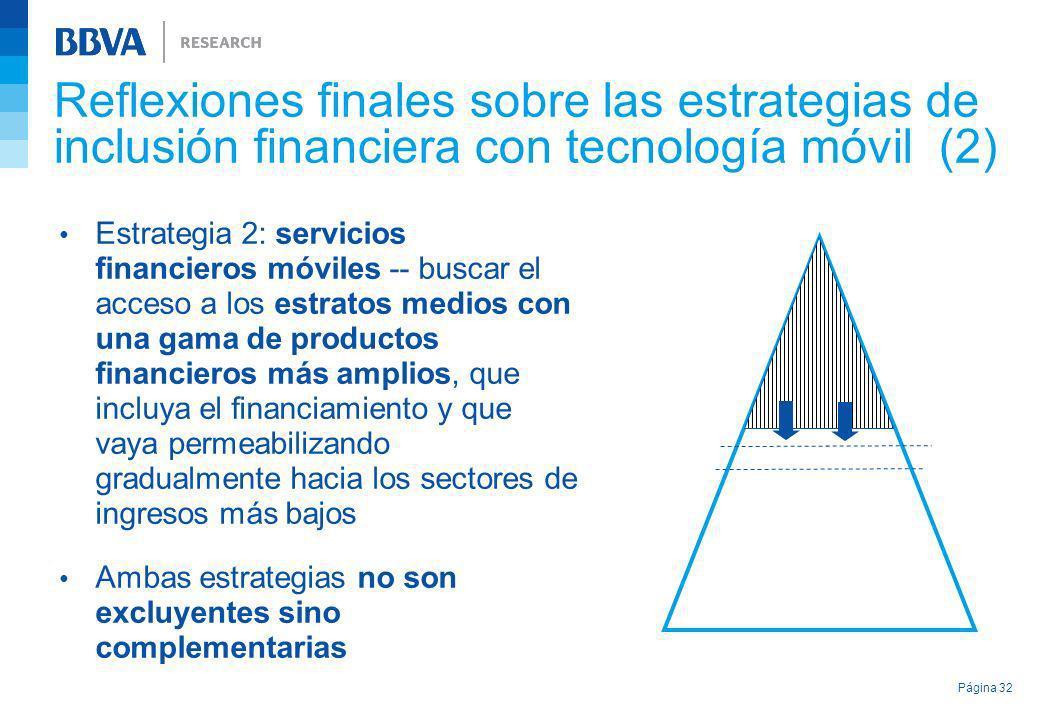 Reflexiones finales sobre las estrategias de inclusión financiera con tecnología móvil (2) Estrategia 2: servicios financieros móviles -- buscar el ac