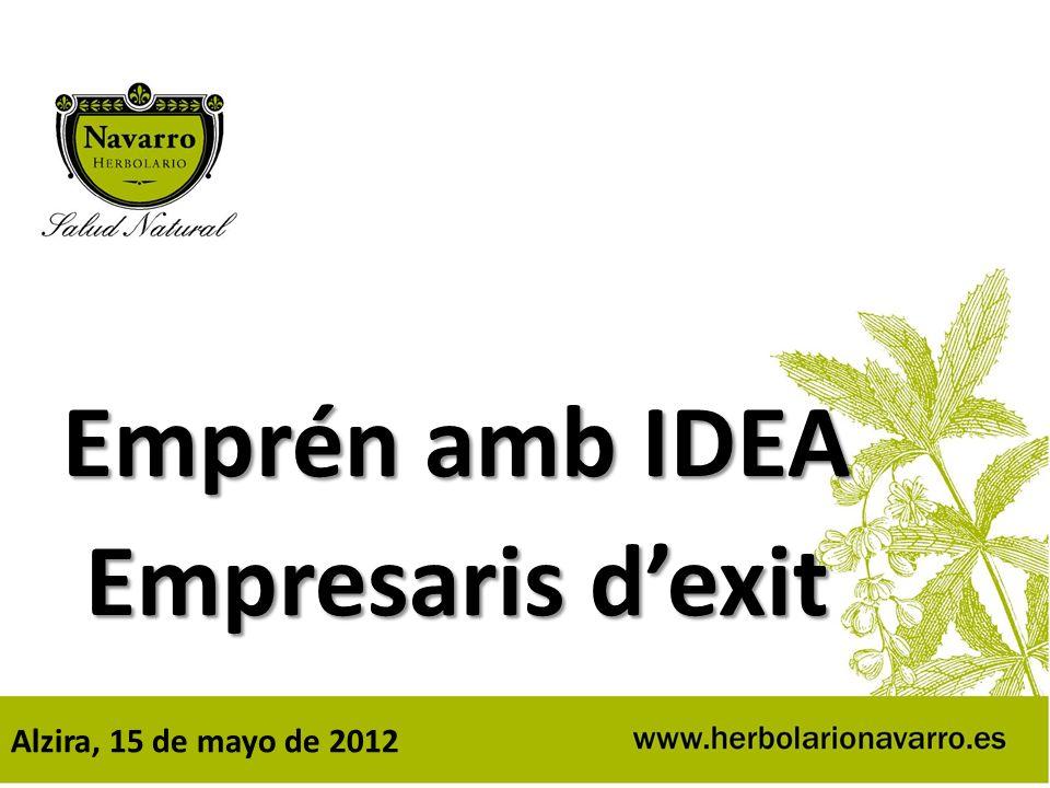 Emprén amb IDEA Empresaris dexit Alzira, 15 de mayo de 2012