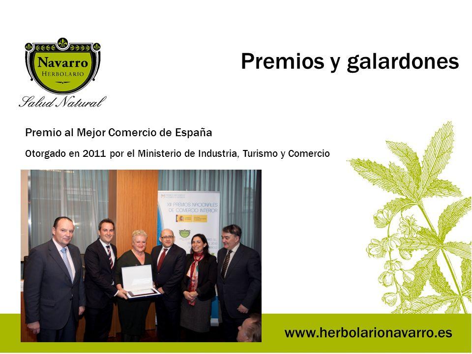 Premios y galardones Premio al Mejor Comercio de España Otorgado en 2011 por el Ministerio de Industria, Turismo y Comercio