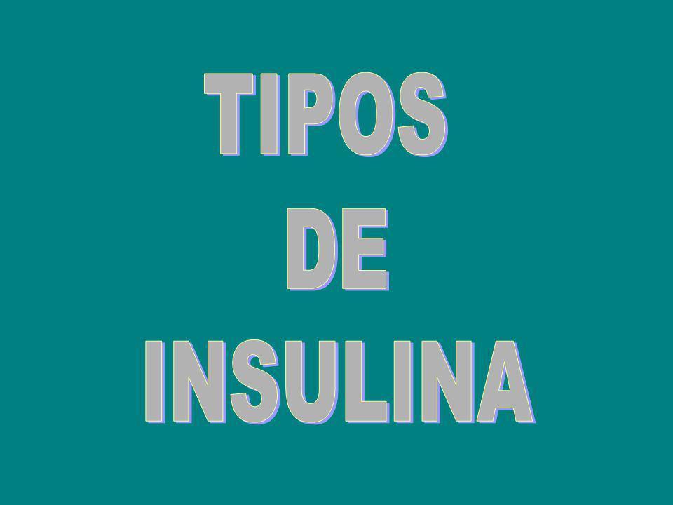 InsulinaMedicamentoInicio de la acción Acción máxima Duración del efecto Insulina Rápida Humana ó Insulina Regular ACTRAPID NOVOLET® ACTRAPID INNOLET® ACTRAPID FLEXPEN® ACTRAPID® vial HUMULINA REGULAR® vial 30-45 minutos después de la inyección subcutánea (s.c) 2-4 horas8 horas Insulina Aspart (Análogo de Insulina Rápida Humana) NOVORAPID FLEXPEN® NOVORAPID ®vial 10-20 minutos después de la inyección s.c.