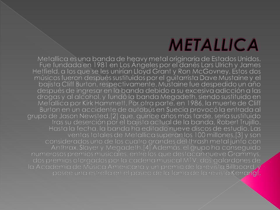 Se puede considerar que la historia de Metallica comenzó en 1980 cuando un joven danés llamado Lars Ulrich se traslada junto con su familia a Los Ángeles.