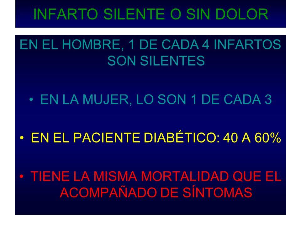 INFARTO SILENTE HOMBRE DE 38 AÑOS, ACTIVO, TABAQUISMO Y HDL DE 20 mg dl.
