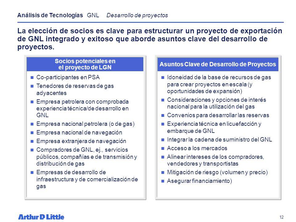 11 Se prevé que para el 2025 el GNL represente entre el 14-17% del gas consumido en Norte América. Importación de GNL a Norte América Según dos escena