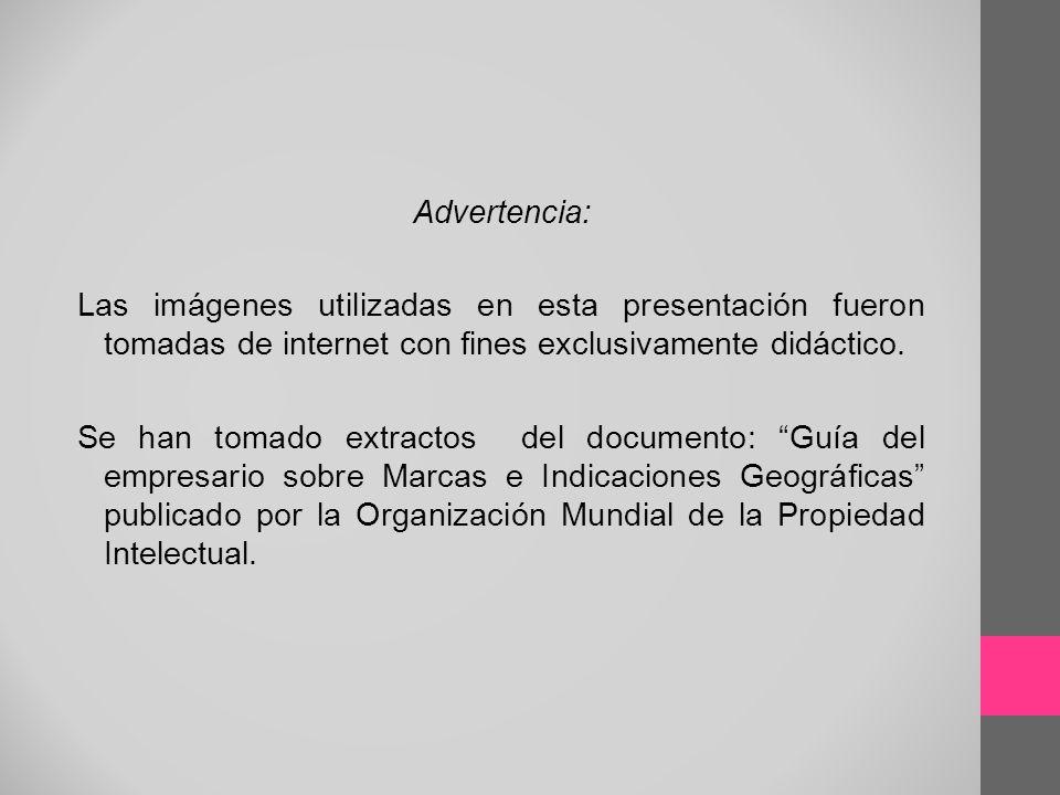 Advertencia: Las imágenes utilizadas en esta presentación fueron tomadas de internet con fines exclusivamente didáctico. Se han tomado extractos del d