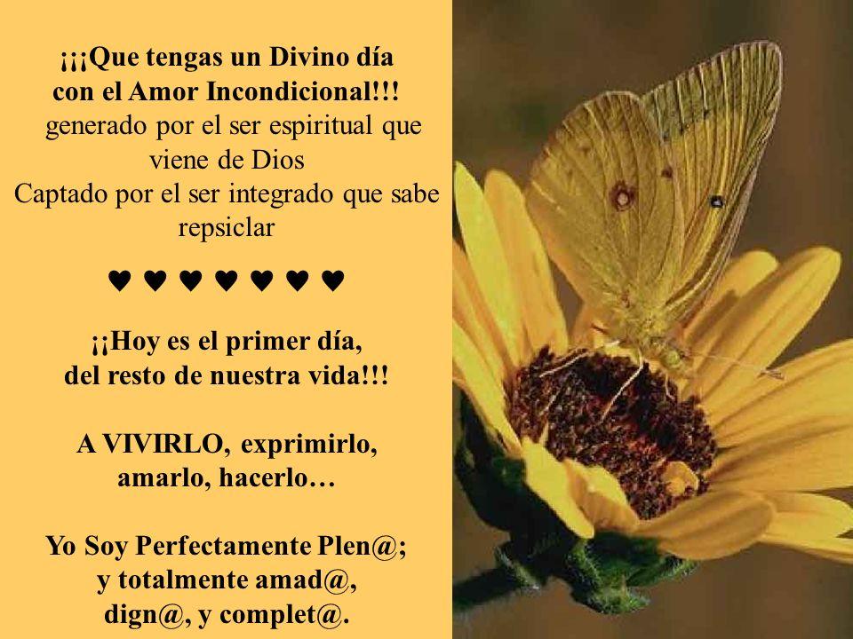 ¡¡¡Que tengas un Divino día con el Amor Incondicional!!! generado por el ser espiritual que viene de Dios Captado por el ser integrado que sabe repsic