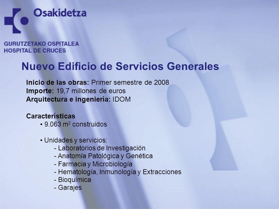 Inicio de las obras: Primer semestre de 2008 Importe: 19,7 millones de euros Arquitectura e ingeniería: IDOM Características 9.063 m 2 construidos Uni