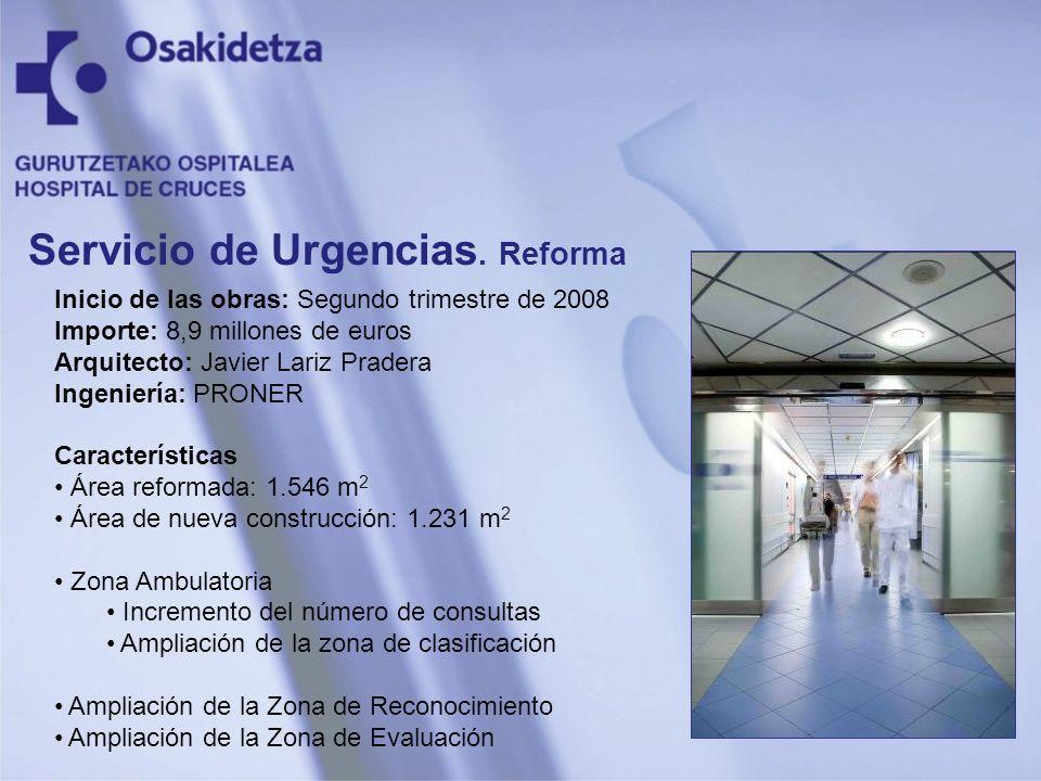 Inicio de las obras: Segundo trimestre de 2008 Importe: 8,9 millones de euros Arquitecto: Javier Lariz Pradera Ingeniería: PRONER Características Área