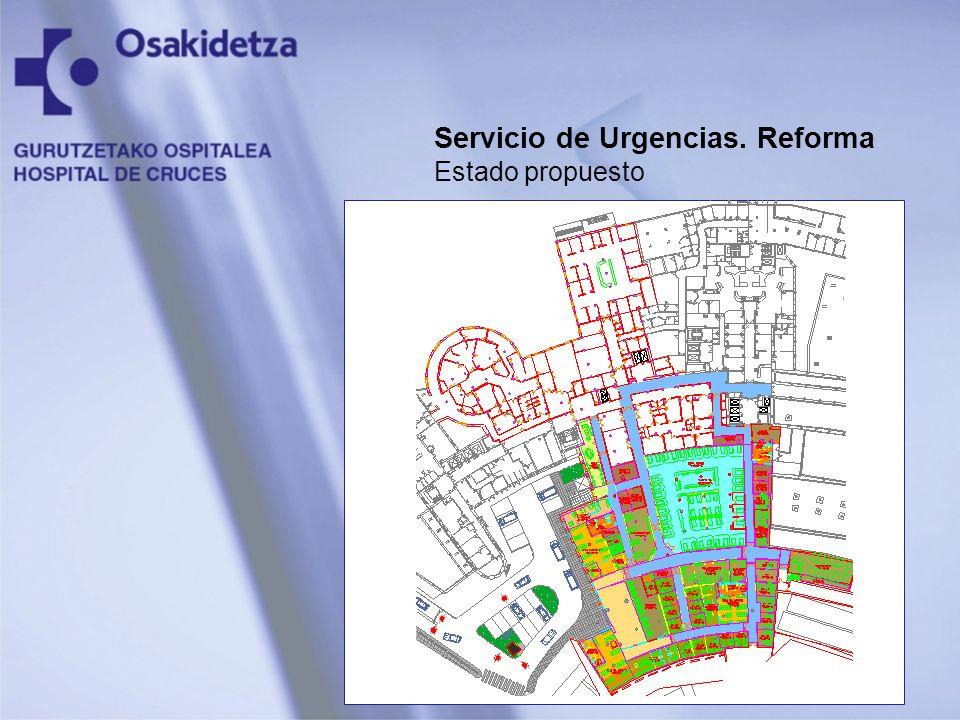 Servicio de Urgencias. Reforma Estado propuesto