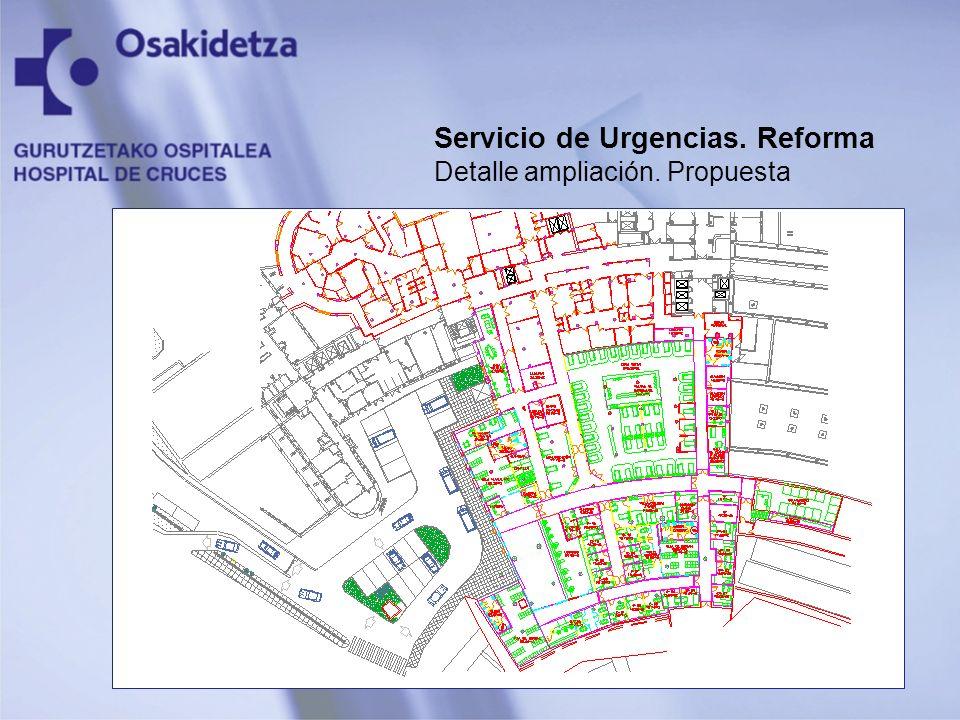 Servicio de Urgencias. Reforma Detalle ampliación. Propuesta