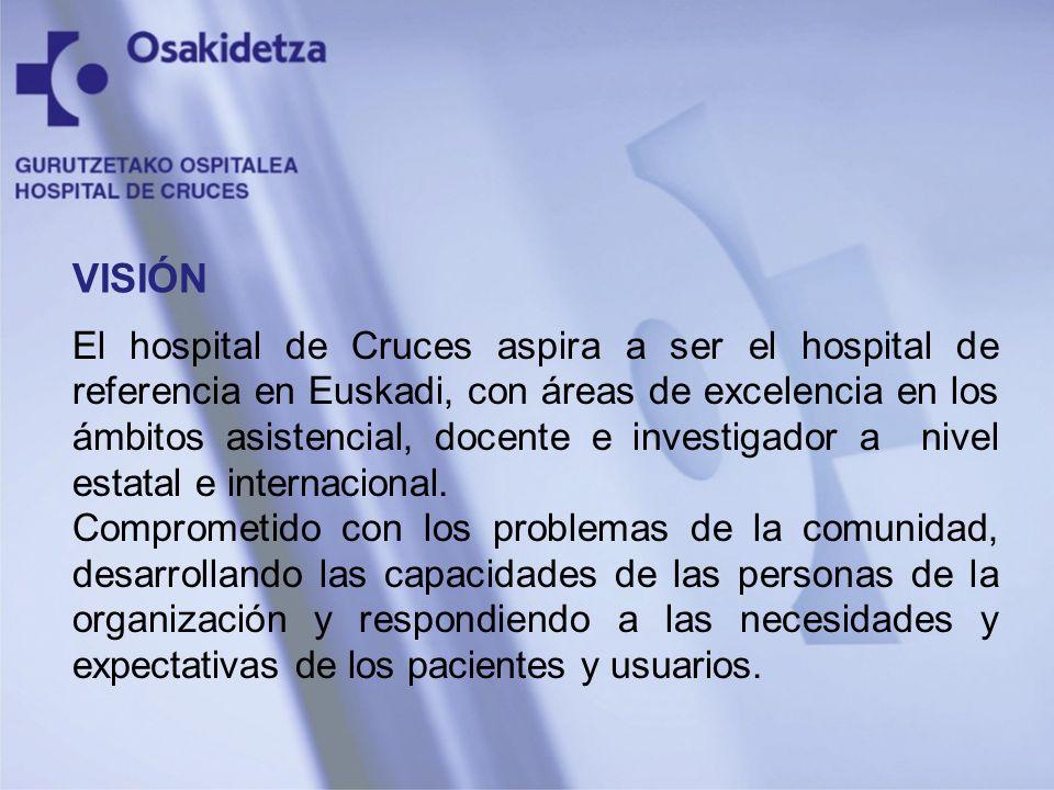 El hospital de Cruces aspira a ser el hospital de referencia en Euskadi, con áreas de excelencia en los ámbitos asistencial, docente e investigador a