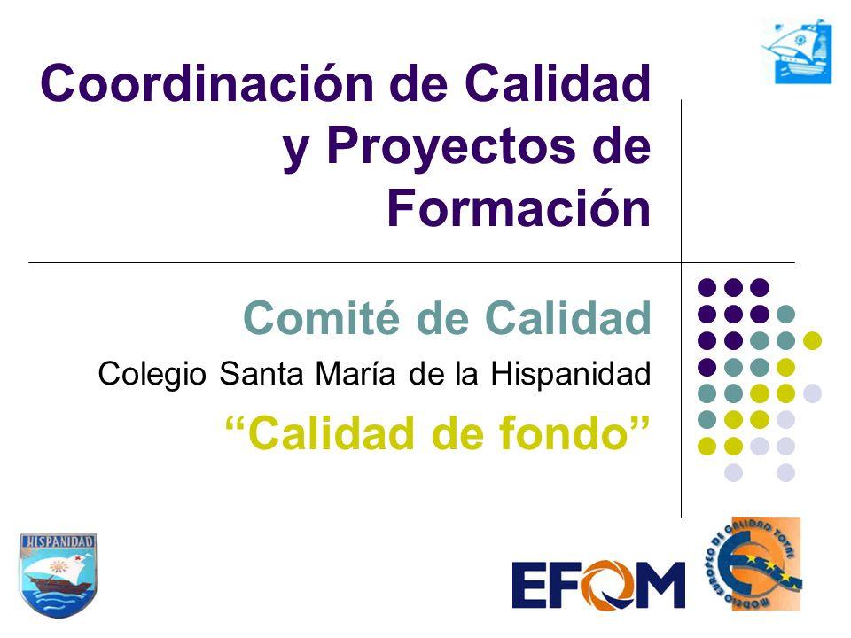 Coordinación de Calidad y Proyectos de Formación Comité de Calidad Colegio Santa María de la Hispanidad Calidad de fondo