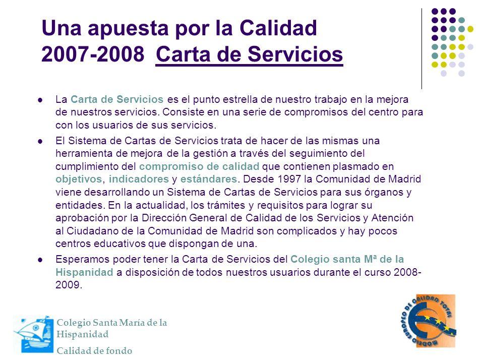 La Carta de Servicios es el punto estrella de nuestro trabajo en la mejora de nuestros servicios. Consiste en una serie de compromisos del centro para