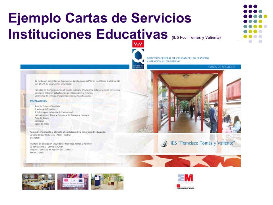 Ejemplo Cartas de Servicios Instituciones Educativas (IES Fco. Tomás y Valiente)