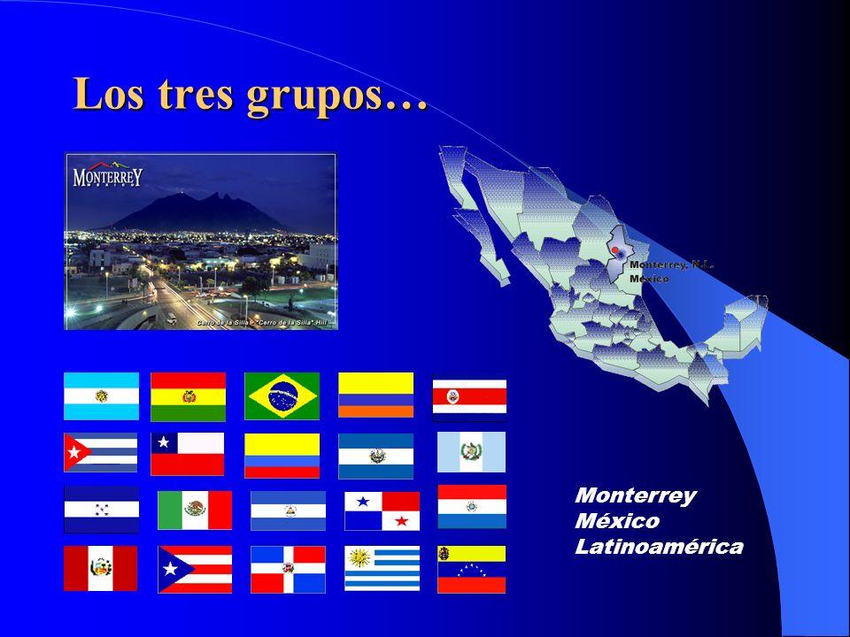 Los tres grupos… Monterrey México Latinoamérica