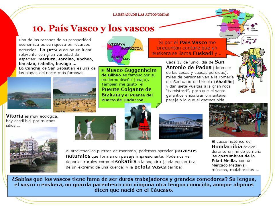 9. REPASO 1: ACTIVIDADES 1) ¿En qué se parecen los españoles de todas las Comunidades dadas? 2) Une imágenes (elegidas por el profesor) con Comunidade