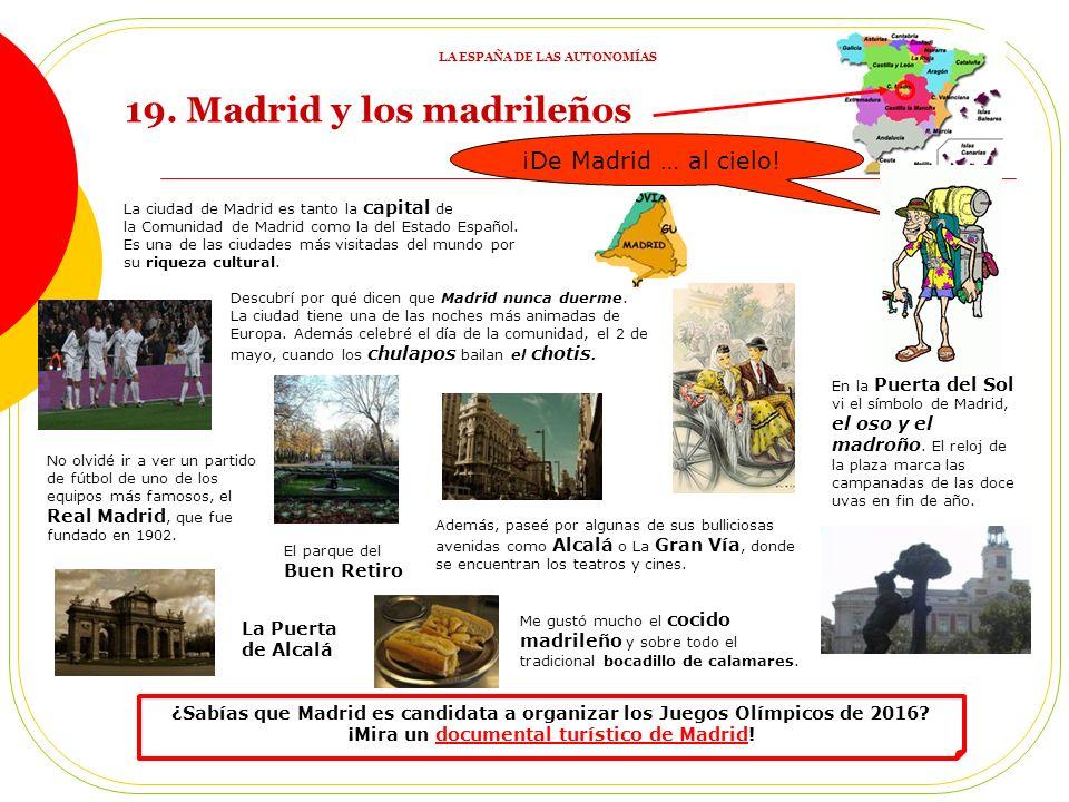 La ciudad de Madrid es tanto la capital de la Comunidad de Madrid como la del Estado Español.