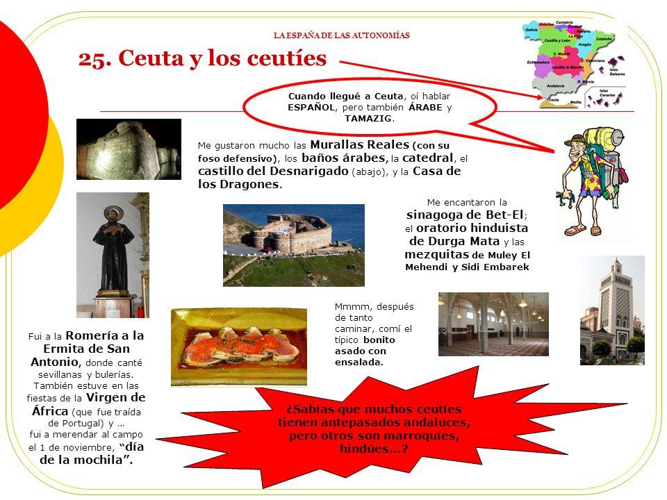 Cuando llegué a Ceuta, oí hablar ESPAÑOL, pero también ÁRABE y TAMAZIG.