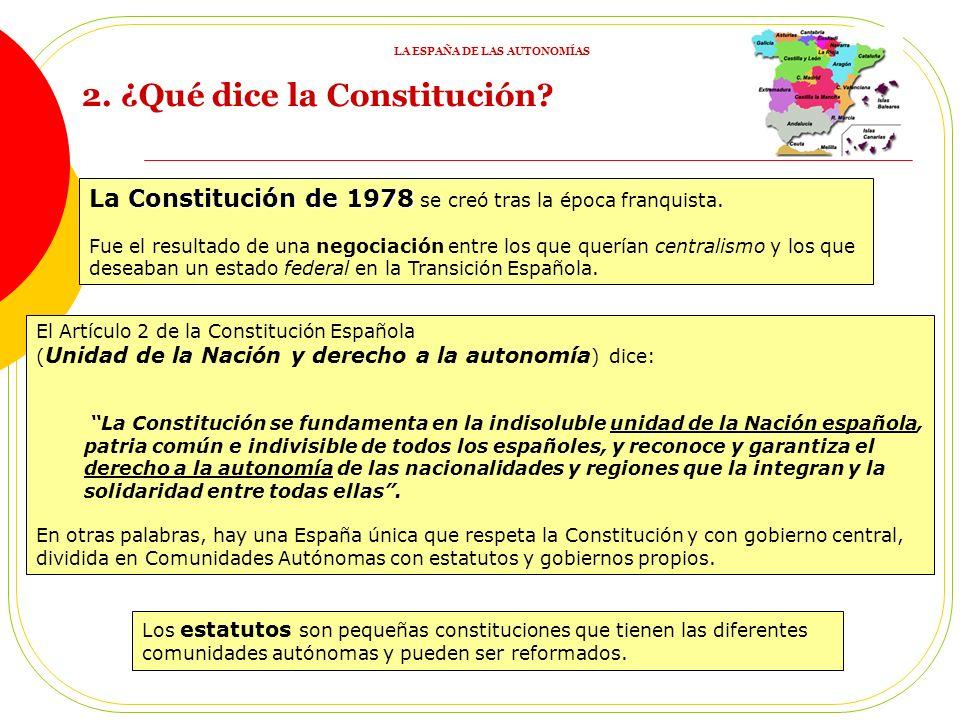 Autonomía Autonomía es el poder que tienen municipios, provincias, regiones … para tener normas y órganos de gobierno propios. Constitución Esta auton