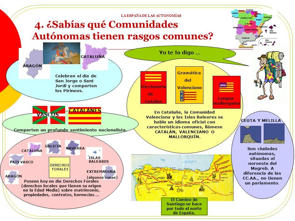 Yo te lo digo … 4.¿Sabías qué Comunidades Autónomas tienen rasgos comunes.