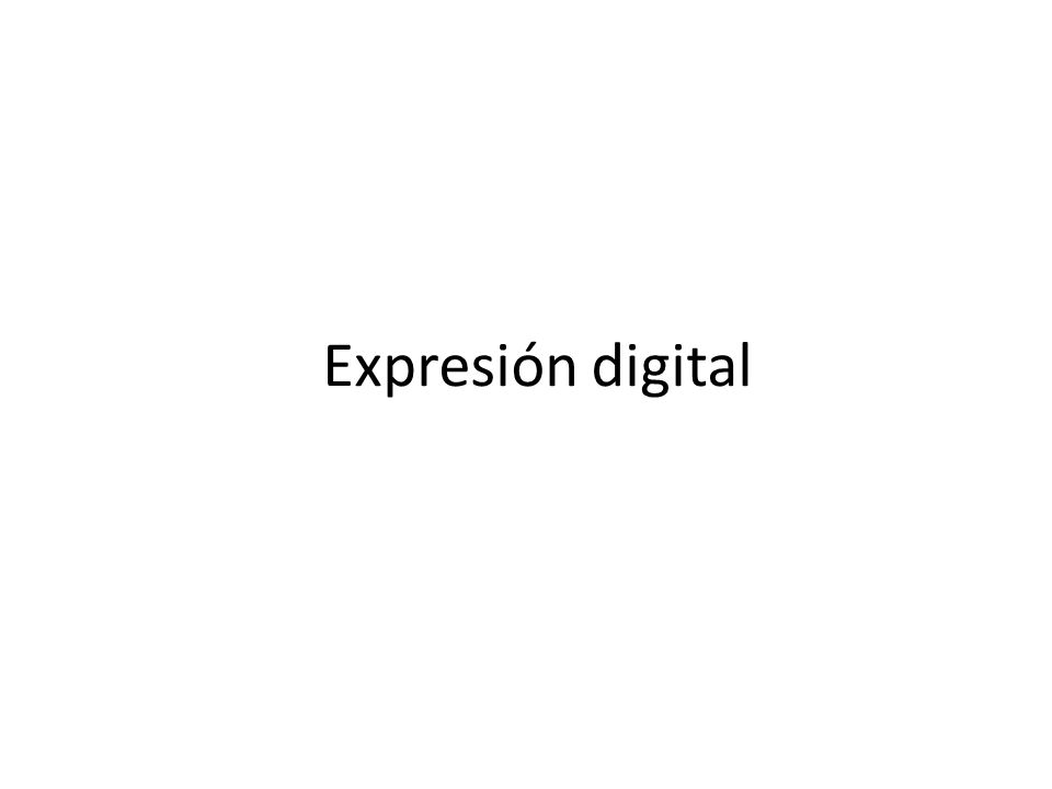 Expresión digital